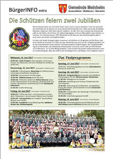 Buerger-INFO extra Schützenfest